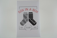 Sox in a Box Club Subscription Review – October 2016